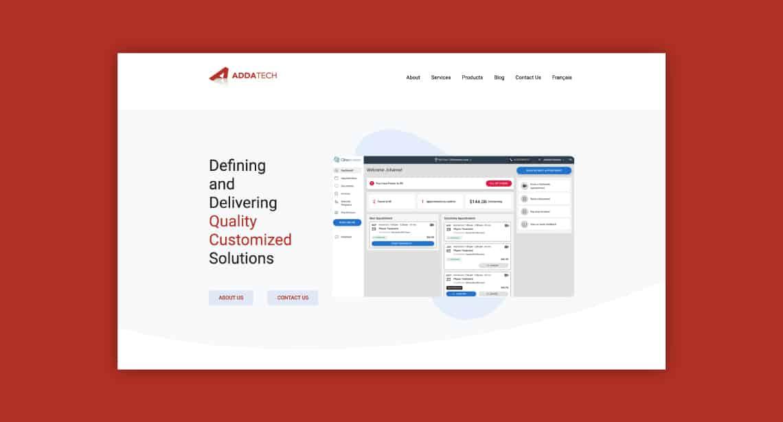 Un des clients de 2point0media, site de Les Systèmes ADDATECH Inc.