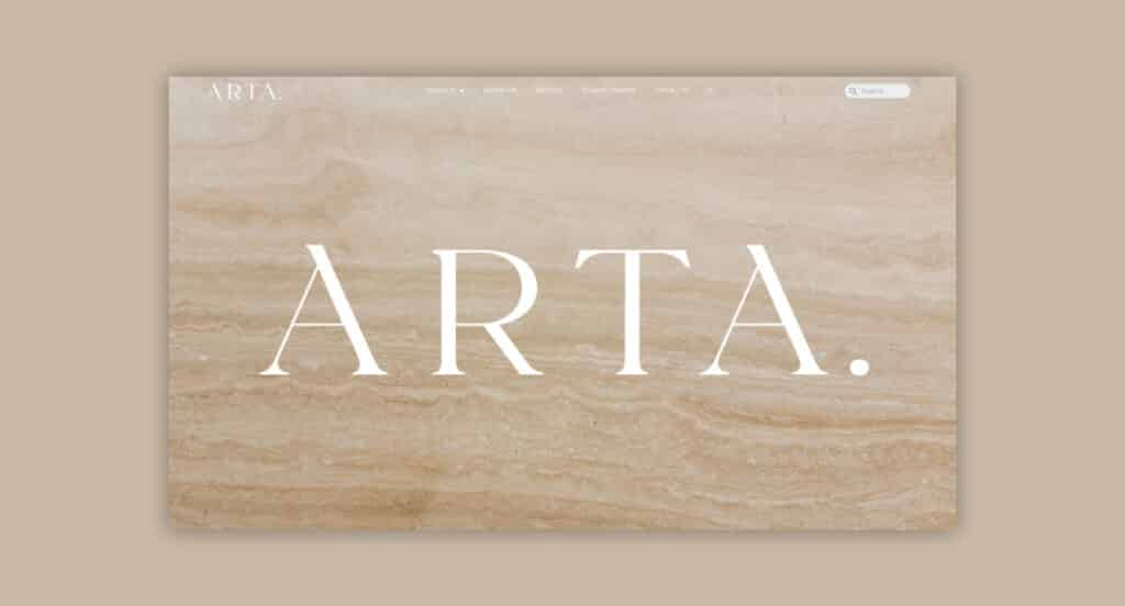One of 2point0media's clients, ARTA Ceramic website.