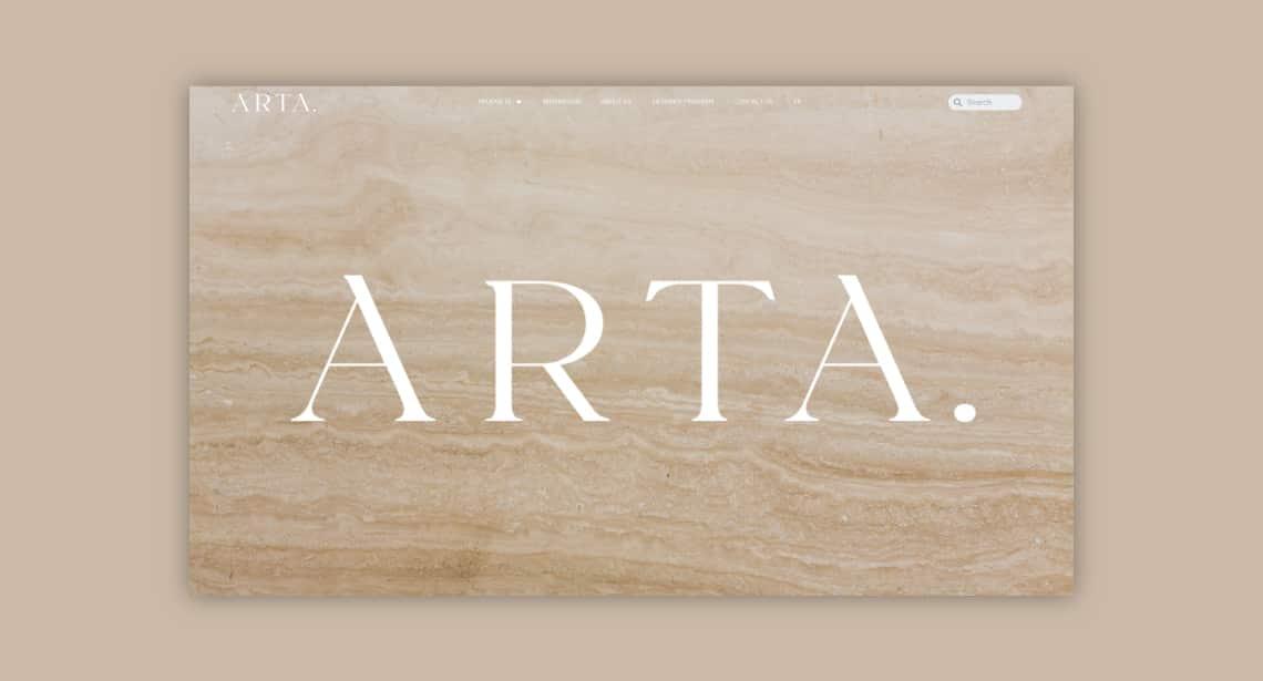 Un des clients de 2point0media, site de Céramique Arta.