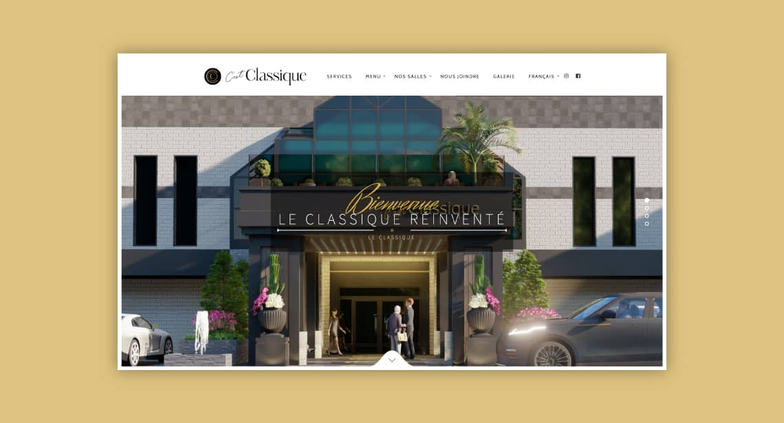One of 2point0media's clients, Le Château Classique website.