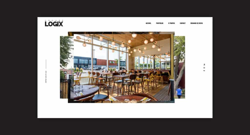One of 2point0media's clients, Groupe Logix website.