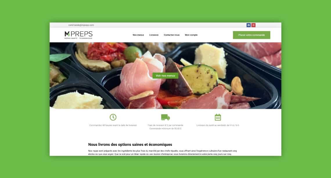 Un des clients de 2point0media, site de Mpreps.