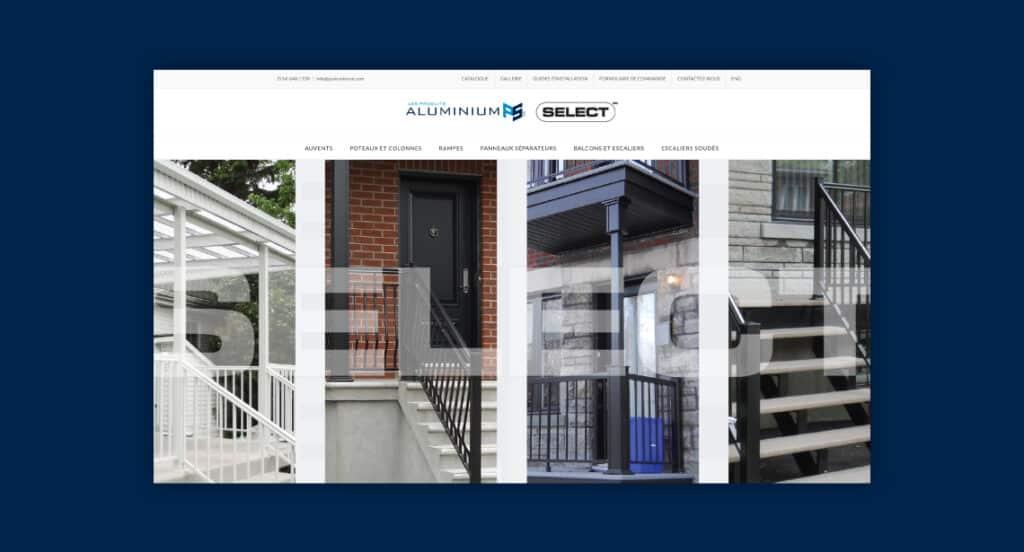 One of 2point0media's clients, PS Aluminium website.