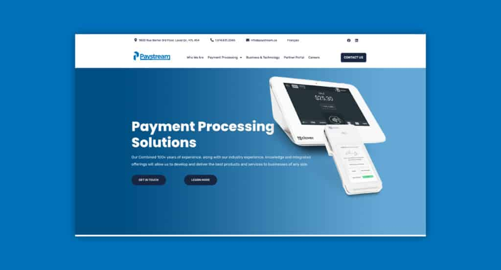 One of 2point0media's clients, Paystream website.
