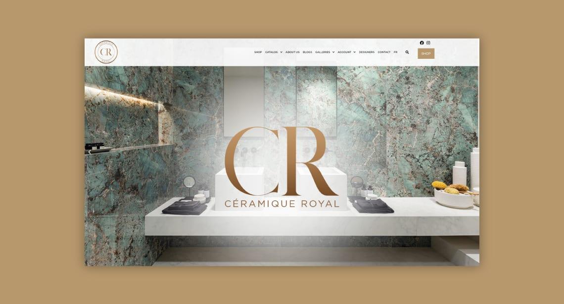 Un des clients de 2point0media, site de Céramique Royal.
