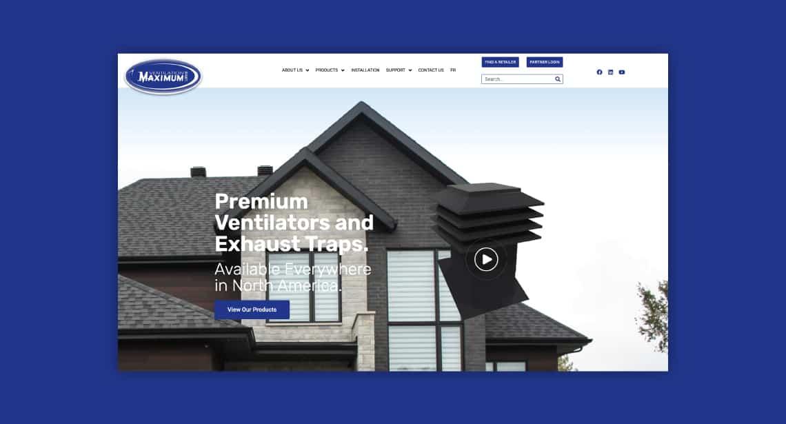 One of 2point0media's clients, Ventilation Maximum website.